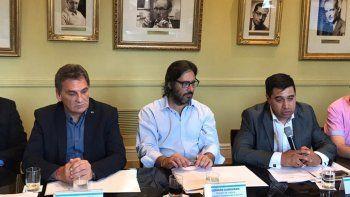 Pablo Durán junto al ministro de Justicia de la Nación, Germán Garavano en el encuentro de ayer.