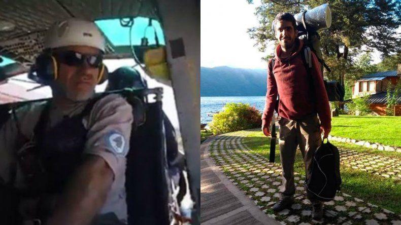 Con helicópteros y drones buscan al turista desaparecido en  el Tronador
