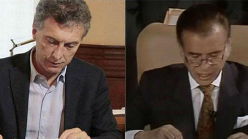 Macri copió un decreto de Menem para fundamentar un DNU