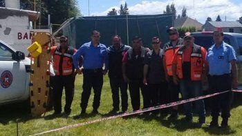 Parte de los integrantes del organismo de seguridad y sanitarios afectados al operativo en Los Antiguos.