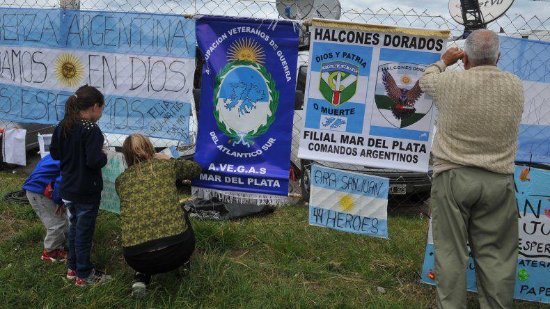 ARA San Juan: los familiares dormirán desde hoy en la base naval