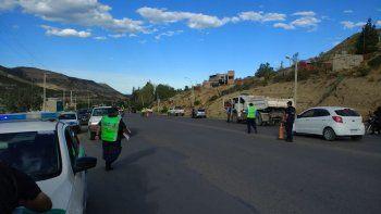 secuestraron siete vehiculos en un control de transito