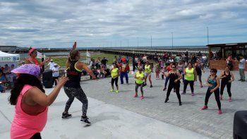 En playas y balnearios de la provincia ya se pudo ver el pasado fin de semana a gran cantidad de gente haciendo ejercicios.