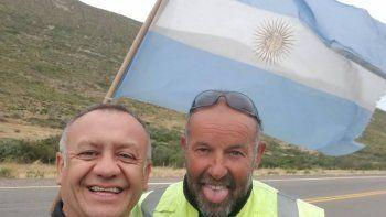 Emilio Saez llegó a Comodoro concientizando sobre Basura Cero