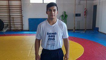 David Almendra, el joven luchador que participará de un campo de entrenamiento que tendrá lugar en México.