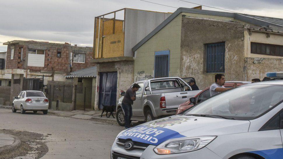 El sector del barrio Isidro Quiroga donde el martes se produjo la agresión armada.