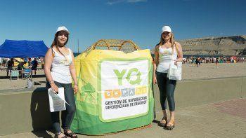 La campaña de concientización en Rada Tilly está en marcha, como todos los veranos.