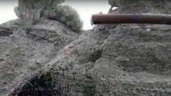 El antiguo caño que derramó petróleo en Restinga Alí.