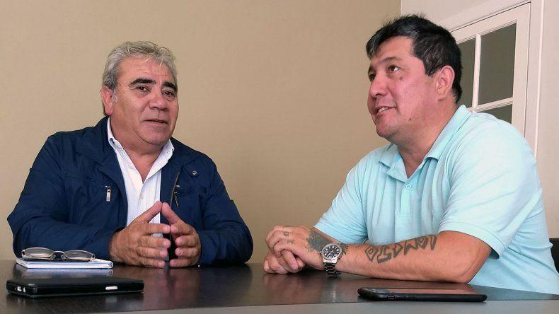 El ministro de Gobierno Marcial Paz y el secretario general de la UOCRA Comodoro Rivadavia