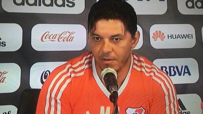 Marcelo Gallardo afirmó que la idea es conformar un equipo que pueda ir creciendo y cumplir objetivos.