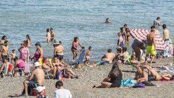 se vienen dias de playa: la maxima para hoy es de 27°