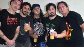 Daniel Koscianiewicz, Martín Lalo, Tommy Gunn, Juan Ledesma y Colorado Bisbal, integrantes de Superuva.