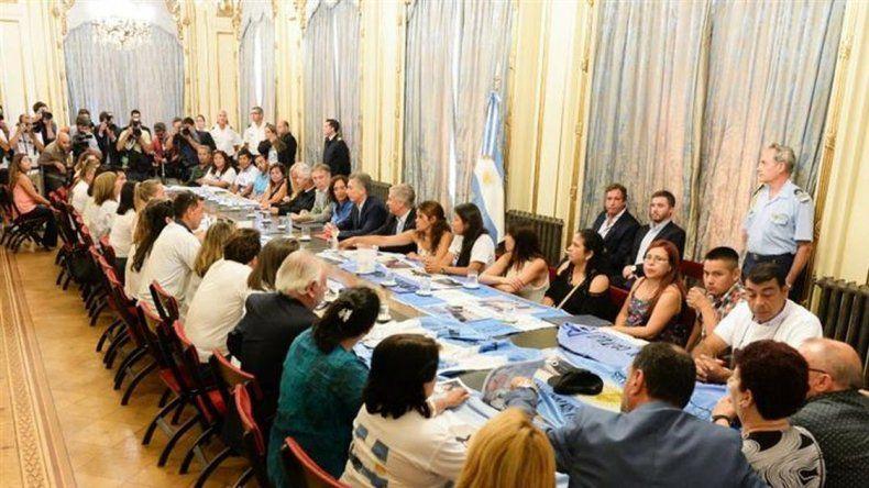 Macri recibió a familiares de los tripulantes del submarino ARA San Juan