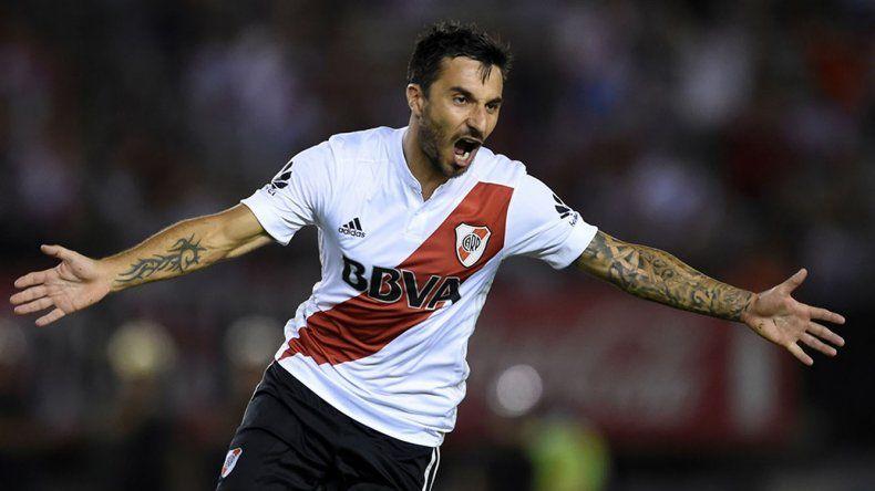 Ignacio Scocco viene de marcar los dos golazos de River en el triunfo del último sábado ante Olimpo en el Monumental.