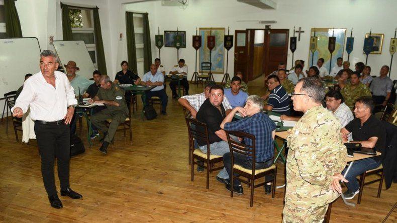 En el Comando de la IX Brigada Mecanizada se realizó el ejercicio de protección civil
