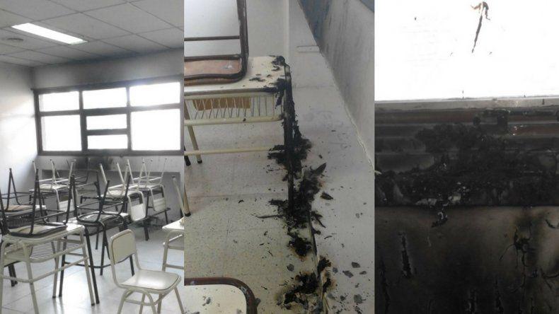Denunciaron actos de vandalismo en la Escuela 718