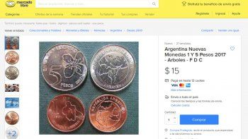 venden las nuevas monedas de $1 y $5 a mas del doble de su valor
