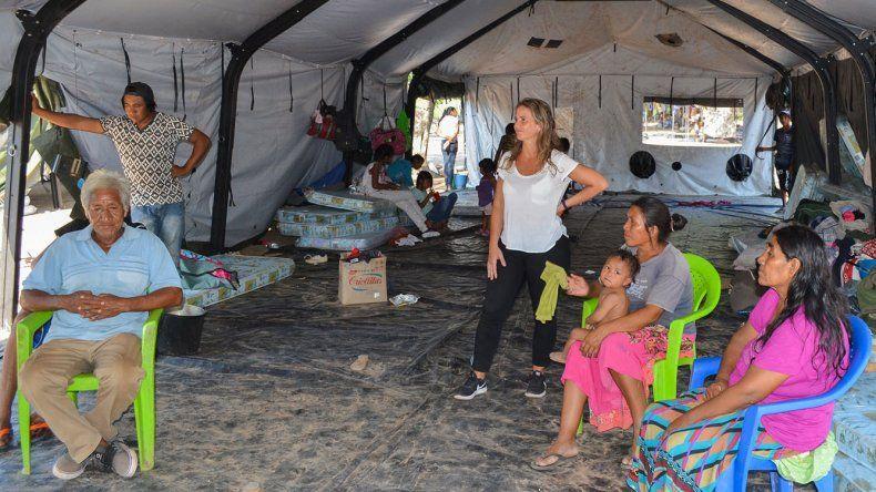 En El Rosado hay más de 360 evacuados por la crecida del Pilcomayo.