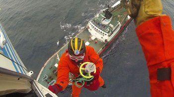 Prefectura aeroevacuó a un tripulante herido