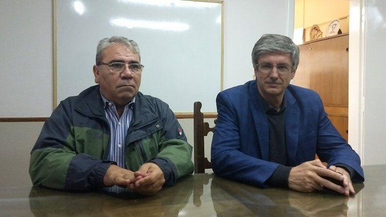 Marcial Paz y Sergio Ongarato procuran coordinar acciones.