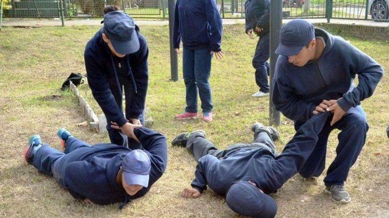 Morir en un entrenamiento policial: si se tiene que morir, que se muera