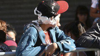 espuma de carnaval: prevencion de accidente