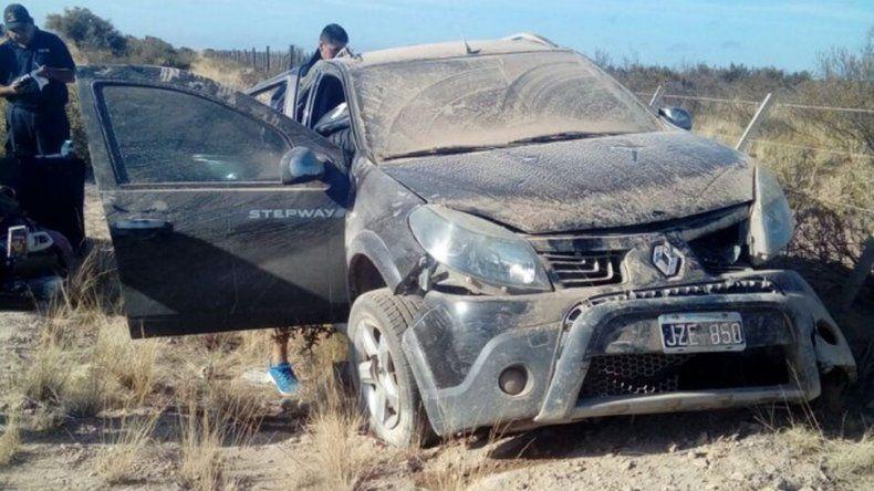 En el vehículo que iba por la Ruta 3 viajaban tres personas. Foto: Miguel Velázquez