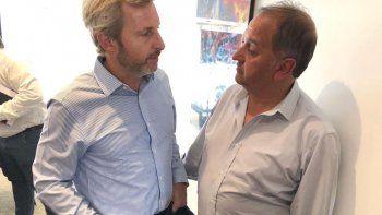 En Casa Rosada el intendente Linares se reunió con el ministro del Interior de la Nación, Rogelio Frigerio.