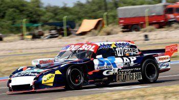El Ford de Marcelo Agrelo que arrancó siendo protagonista de entrada en el autódromo de Viedma, provincia de Río Negro.