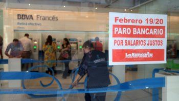 El lunes y martes no habrá atención bancaria en todo el país por un paro de la Asociación Bancaria.