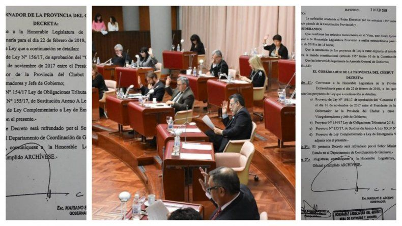 El gobernador Arcioni convocó para este jueves a sesión extraordinaria