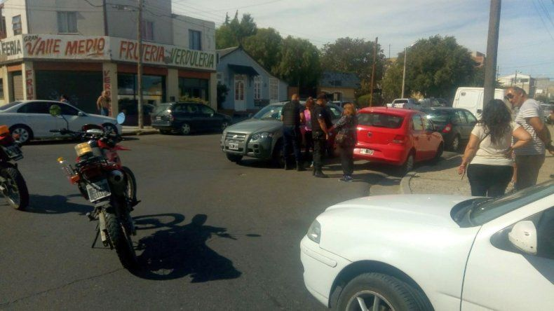 Triple choque en barrio La Loma