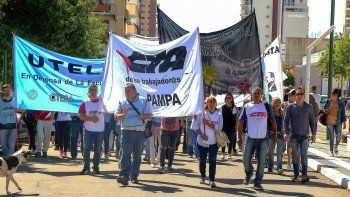 La manifestación que se desarrolló en Santa Rosa.
