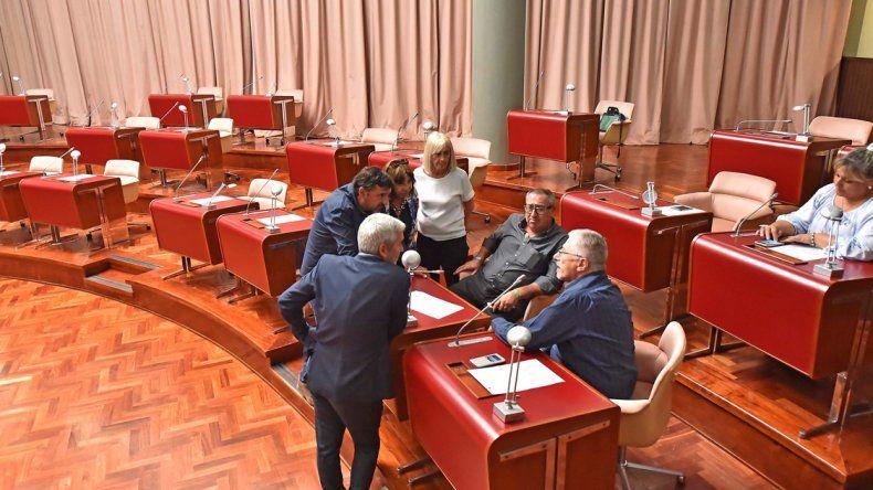Solo los legisladores de Chubut Somos Todos bajaron ayer al recinto.