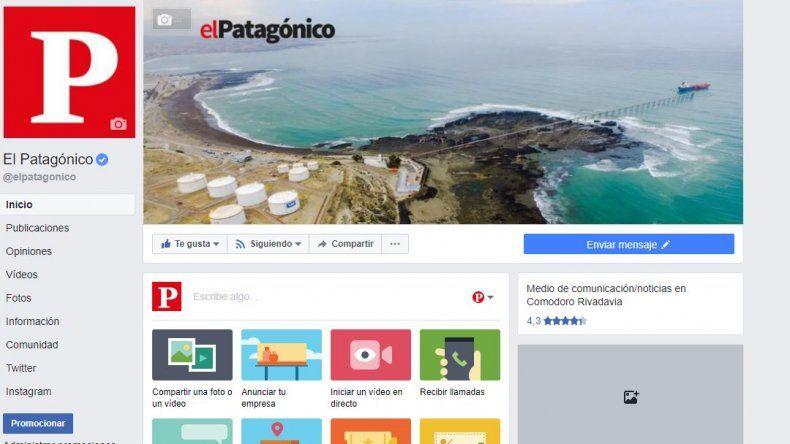 ¿Cómo ver las noticias de El Patagónico en Facebook?