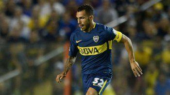 Carlos Tevez estará esta tarde en el ataque de Boca cuando reciba a San Martín.
