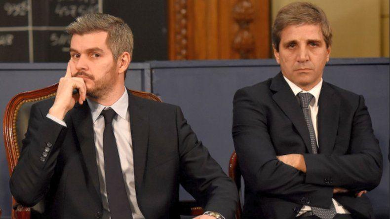 Marcos Peña apoyó a Caputo  a pesar de las denuncias
