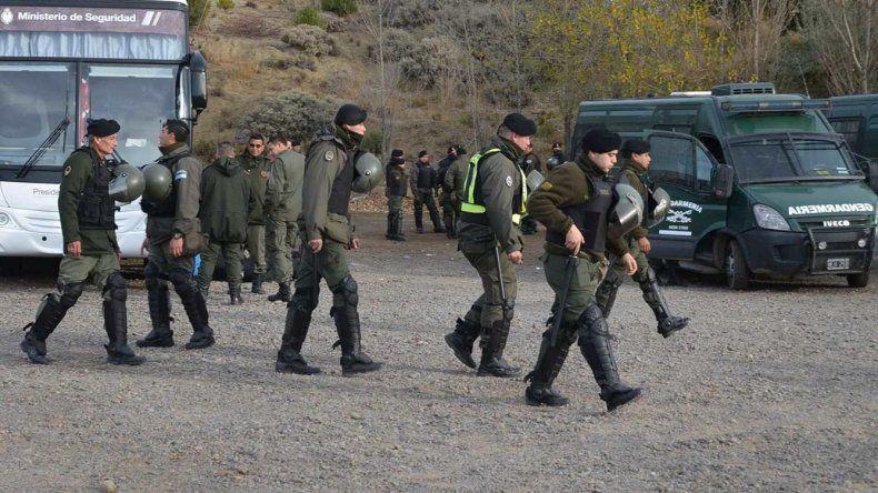 La masiva llegada de gendarmes a Río Turbio