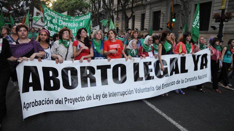El colectivo Campaña Nacional por el Derecho al Aborto legal