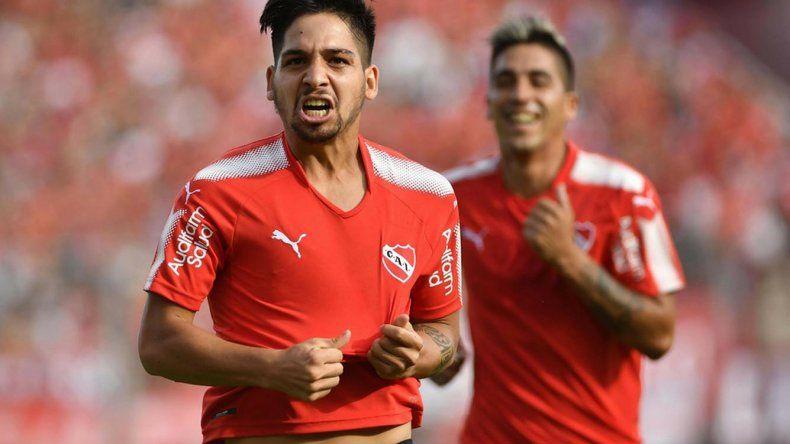 Martín Benítez será esta tarde uno de los delanteros en el ataque de Independiente en San Juan.