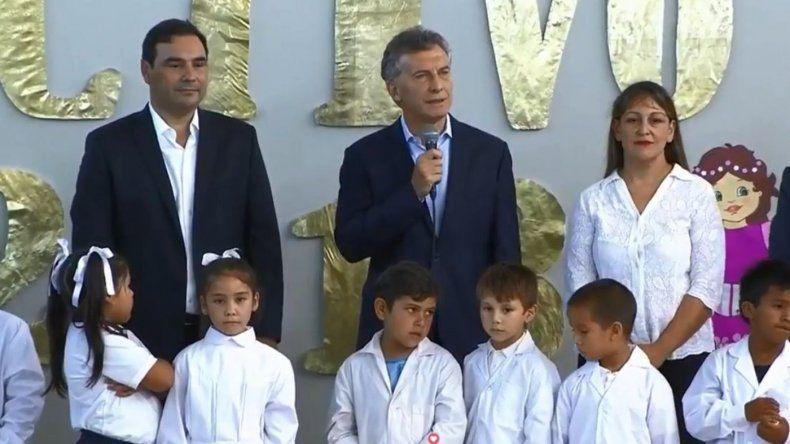 Macri inauguró el ciclo lectivo con más de cinco millones de chicos sin clases