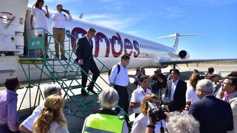 Presentaron oficialmente la nueva ruta aérea de Andes a Comodoro