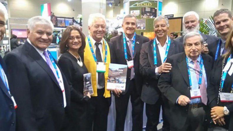 La comitiva argentina en la Feria Mundial de Minería.