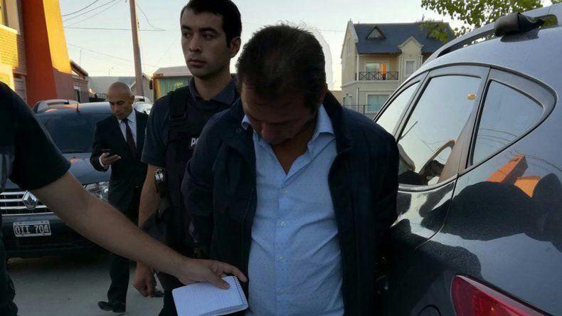Diego Correa al ser detenido el miércoles por la mañana.