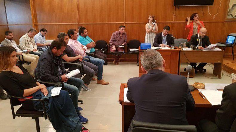 La audiencia de control de detención que se desarrolló ayer en Rawson.