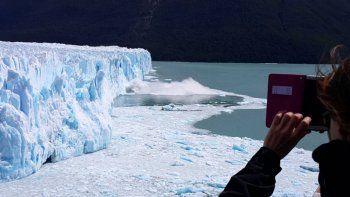 Comenzó la ruptura del glaciar en Perito Moreno