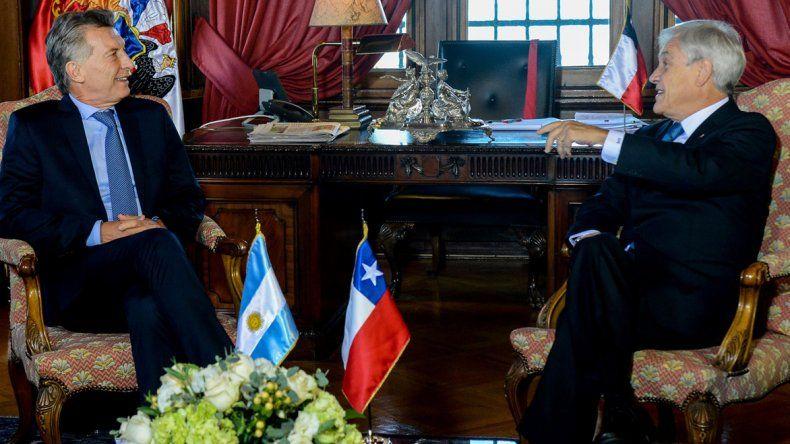La reunión cumbre que Macri y Piñera mantuvieron ayer en Viña del Mar