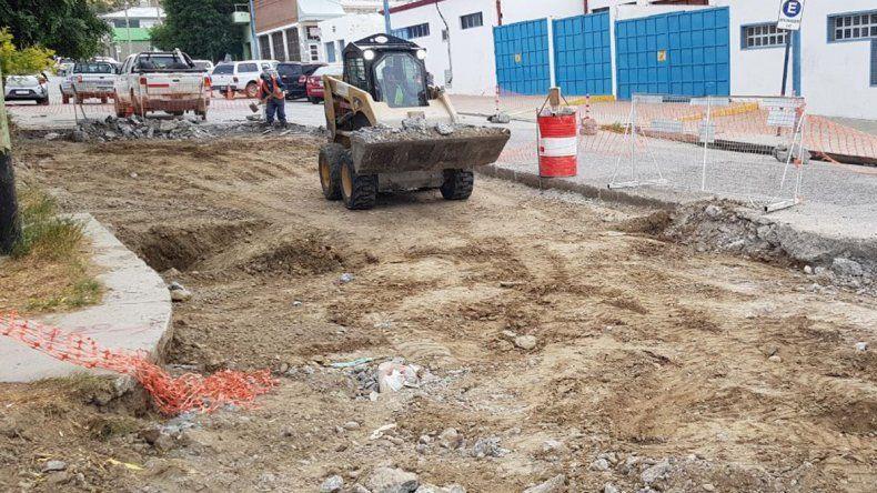 Los trabajos de bacheo sobre la calle Viamonte