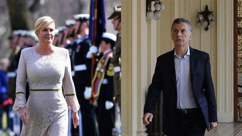 Comercio bilateral: Macri recibe a la presidenta de Croacia