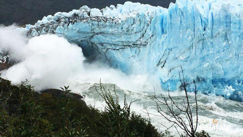 El Glaciar Perito Moreno se rompió de noche